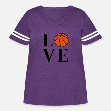 Lakers Basketball Love - Women's Curvy Vintage Sport T-Shirt