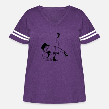Pinup pinup - Women's Curvy Vintage Sport T-Shirt