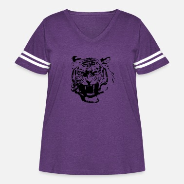 Black tiger - Women's Curvy Vintage Sport T-Shirt