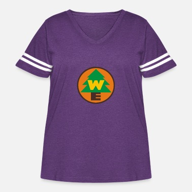 Explorer Up – Wilderness Explorer - Women's Curvy Vintage Sport T-Shirt