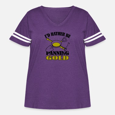 The Golden State Gold - i'd rather be panning gold - Women's Curvy Vintage Sport T-Shirt