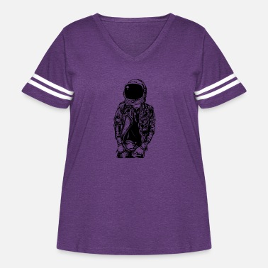 Streetpunk Astronaut Streetpunk. The coolest on the pitch! - Women's Curvy Vintage Sport T-Shirt