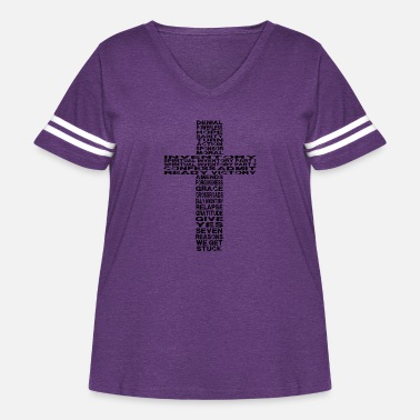 Celebrate Celebrate Recovery 25 Lessons in Cross - Women's Curvy Vintage Sport T-Shirt