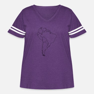 South America South America - Women's Curvy Vintage Sport T-Shirt