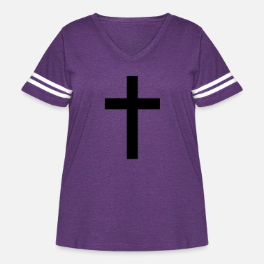 Tradition Traditional Cross - Women's Curvy Vintage Sport T-Shirt
