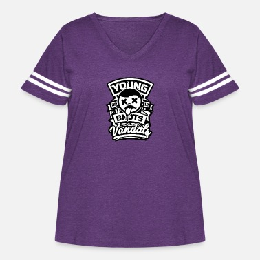 Young Persons Young - Women's Curvy Vintage Sport T-Shirt