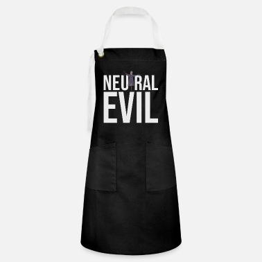 Neutral Evil - Scarecrow Graphic Text - Roleplay - Artisan Apron