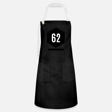 Age 62 Modern Design Hexagon - Artisan Apron