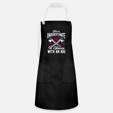 Lovely Hatchet Axe Throwing Lumberjack A Woman With An - Artisan Apron