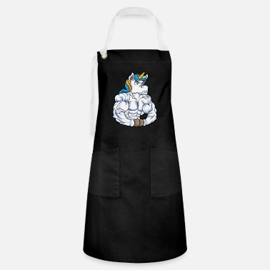 Perfect Six Pack Unicorn as Bodybuilder with Six pack - Artisan Apron