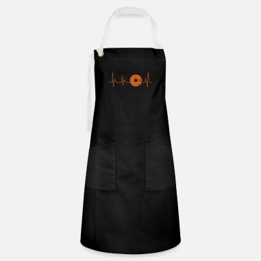 Heart Line Circular saw carpenter Bastler Heartbeat - Artisan Apron