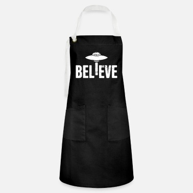 Ancient believe in ufos 2 - Artisan Apron