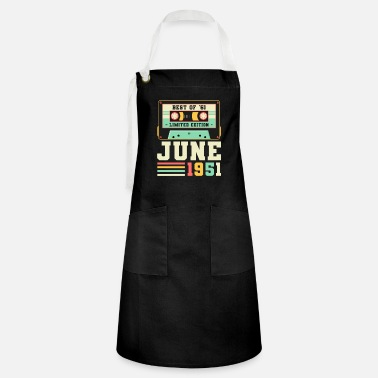 70th 70th Birthday June Gift Vintage 1951 70 Years - Artisan Apron