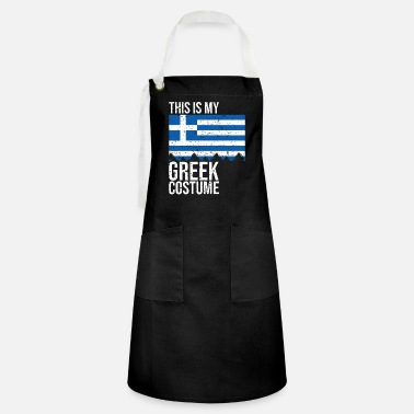 Greek Vintage This is my Greek Flag Halloween T-Shirt - Artisan Apron