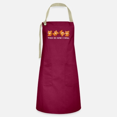 Red Red Panda Gift Kids This Is How I Roll Red Panda - Artisan Apron
