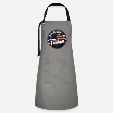 Prohibited Guns Freedom Beacon Beer, Gun Owner Ammo Lover - Artisan Apron