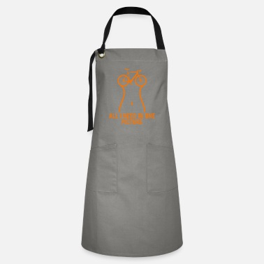 Motocross All I Need Is Bike Biker Biking Cycling Cyclist - Artisan Apron