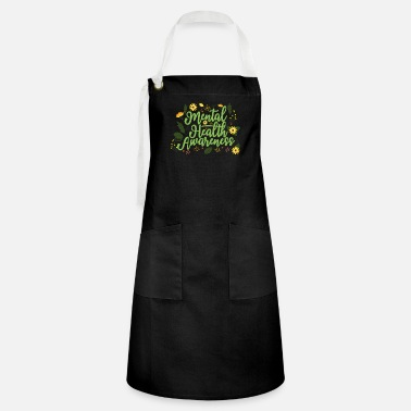 Self Mental Health Awareness Month Retro Positive Quote - Artisan Apron