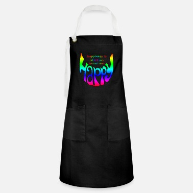 Infectious happy smile, happiness is infectious - Artisan Apron