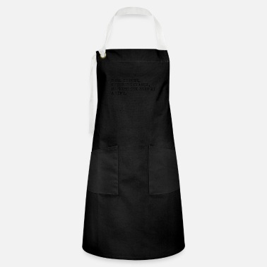 Real change enduring change happens one step at a - Artisan Apron