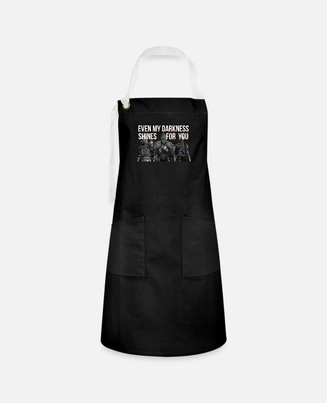 Video Game Aprons - Even my darkness shines for you - Artisan Apron black/white
