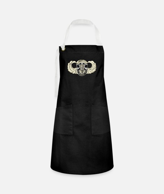 Special Forces Aprons - T-Shirt - SOF - Airborne Badge - SF - DUI.png - Artisan Apron black/white
