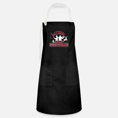 Fisherman Half Hunter Half Fisherman Gifts Shirt - Artisan Apron