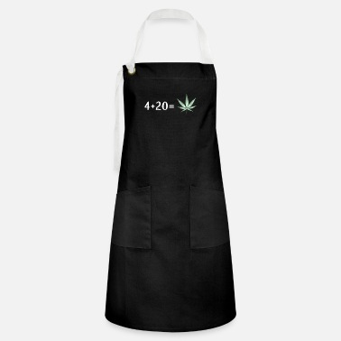 4 + 20 is Cannabis Lover Stoners Birthday Gift - Artisan Apron