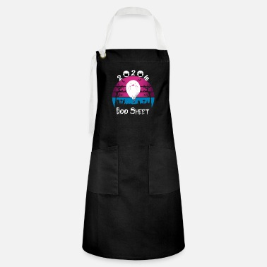 Name 2020 is Boo Sheet Shirt Women Men Halloween Ghost - Artisan Apron