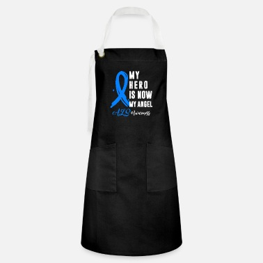 Blue Wings Als Awareness My Hero Is Now My Angel Blue Ribbon - Artisan Apron