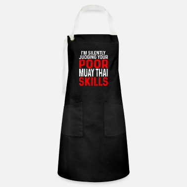 Gym Muay Thai Judging NakMuay Boxing Workout product - Artisan Apron