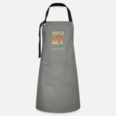 Production Year Vintage 80th Birthday March 1941 Sports Gift - Artisan Apron