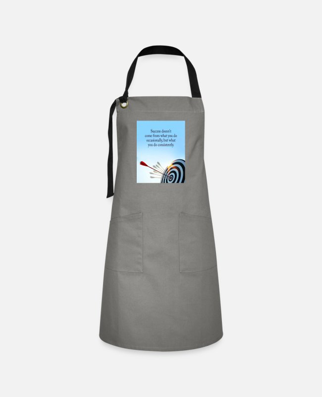 Arrow Aprons - success comes what you do consistently - Artisan Apron gray/black