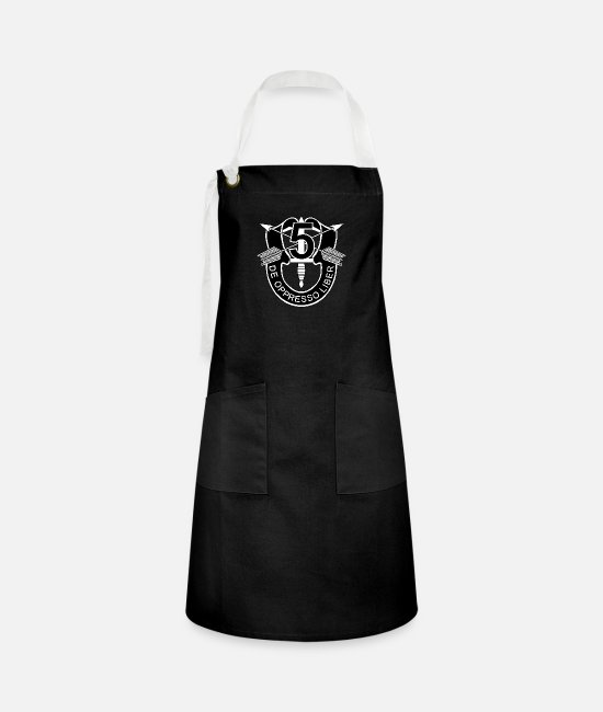 Group Aprons - SOF - 5th SF - SF DUI - No Txt - Artisan Apron black/white
