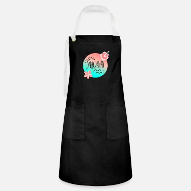 Holiday Aloha gradient seaside and flowers - Artisan Apron