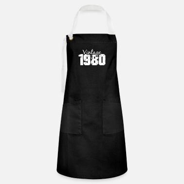 Cassette 1980 vintage 40th birthday forty years retro legen - Artisan Apron