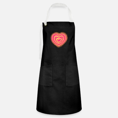 red heart - Artisan Apron