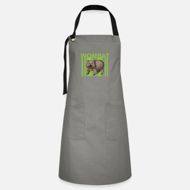 Global Wombat environment climate protection gift - Artisan Apron