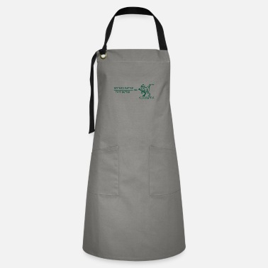 German Velociraptor gift teacher school professor - Artisan Apron