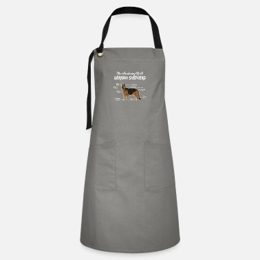 German German Shepherd Gift Anatomy German Shepherd Dog - Artisan Apron