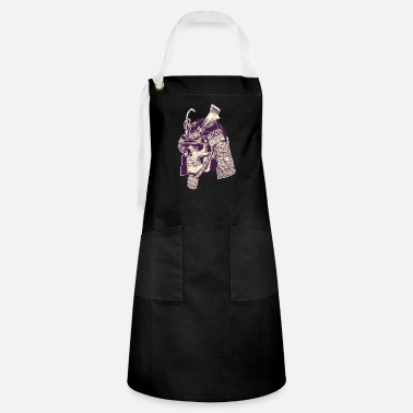 Art Skull Samurai Warrior cool art - Artisan Apron