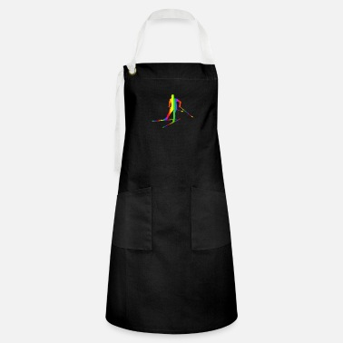 Country Colors Colorful Cross-country skiing Rainbow - Artisan Apron
