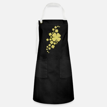 Look Charm Anniversary golden clovers lucky symbol st patrick's day - Artisan Apron