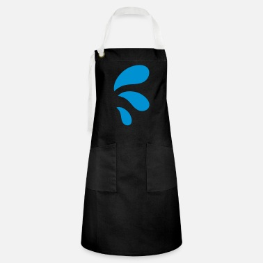 Water Droplets three curvy funky water droplets - Artisan Apron