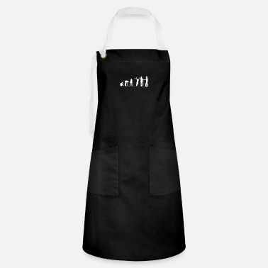 Sportsmanship Human Evolution Golf Sportsmanship - Artisan Apron