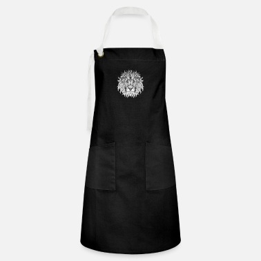 Ethnic Tribal Lion BW - Artisan Apron