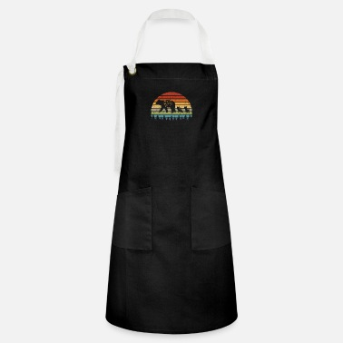 Bear Retro Bear Family Grizzly Puppy Wild Animal Gift - Artisan Apron