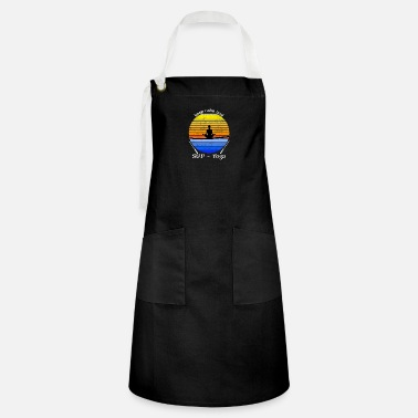 Keep Calm and SUP - Yoga Retro Vintage Design - Artisan Apron