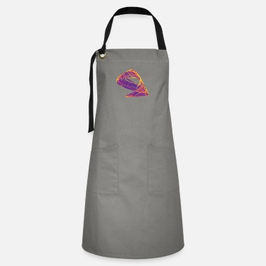 Storytelling Graphic Watercolor art graphic painting chaos 741plasma - Artisan Apron