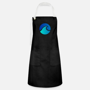 Verão Summer - Wave - Design - Water - Vacation - Artisan Apron